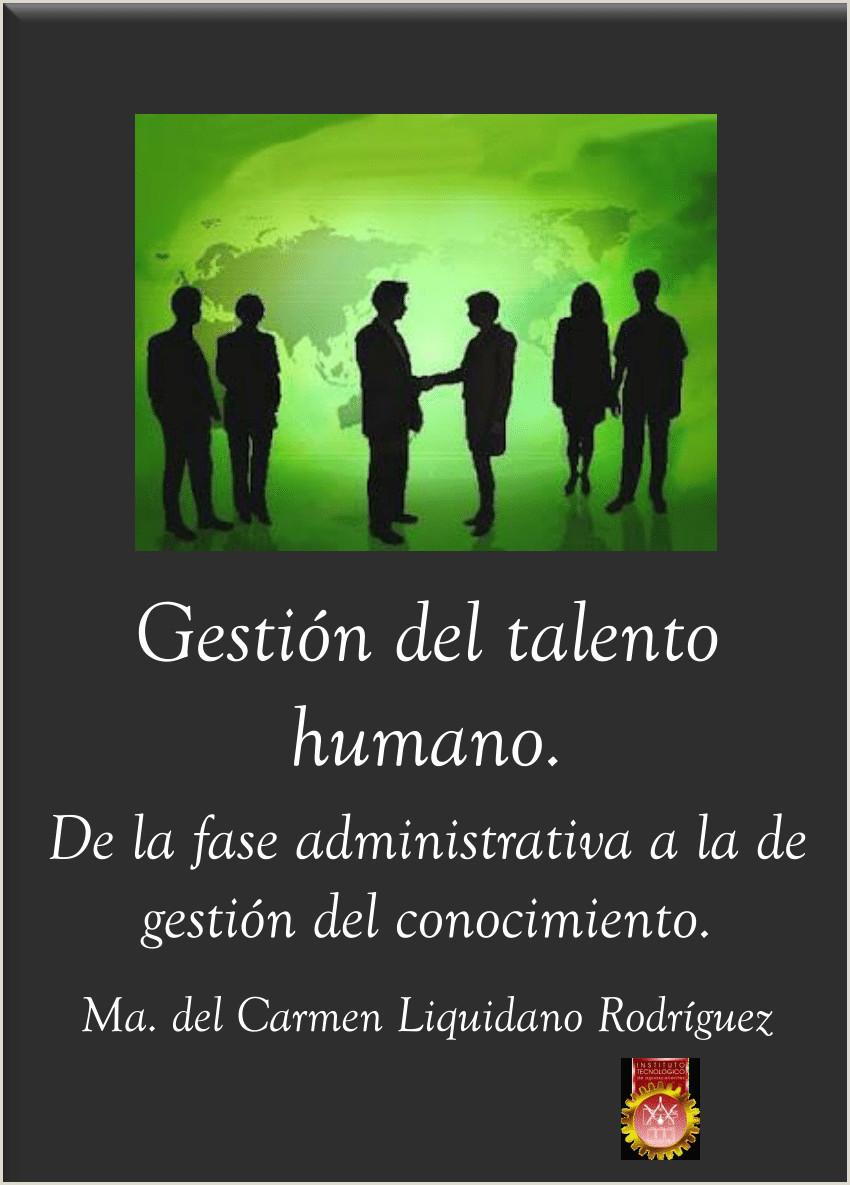 PDF Gesti³n del Talento Humano De la fase administrativa a