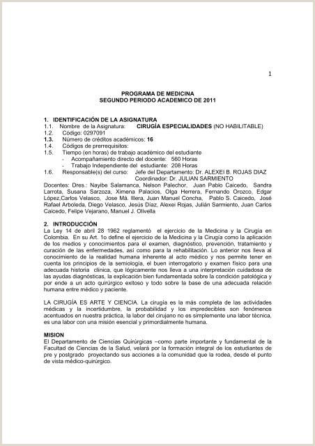 cirugia especialidades ix semestre Facultad Ciencias de