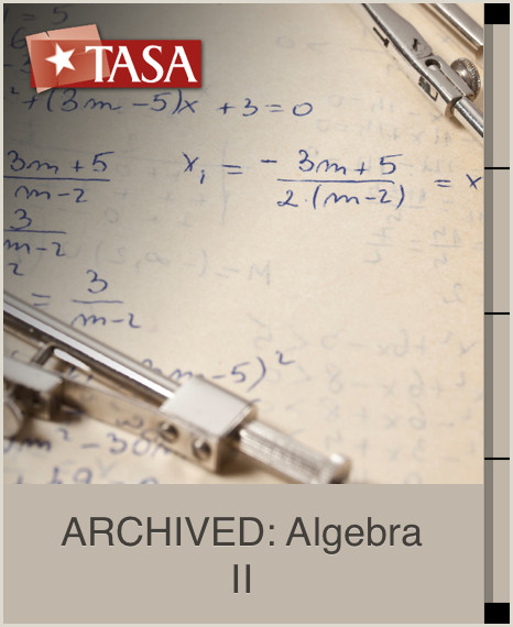 ARCHIVED Algebra II Curso gratuito de TASA Texas Association of School Administrators en iTunes U