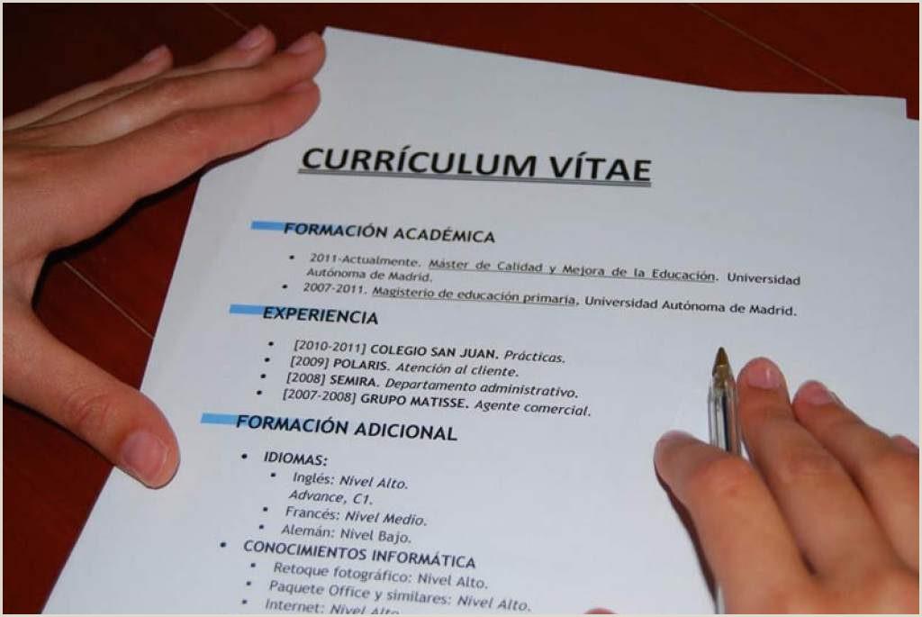 Como Hacer Una Hoja De Vida Curriculum Vitae 📋 C³mo Hacer Un Curriculum Vitae Perfecto Que Enganche A La
