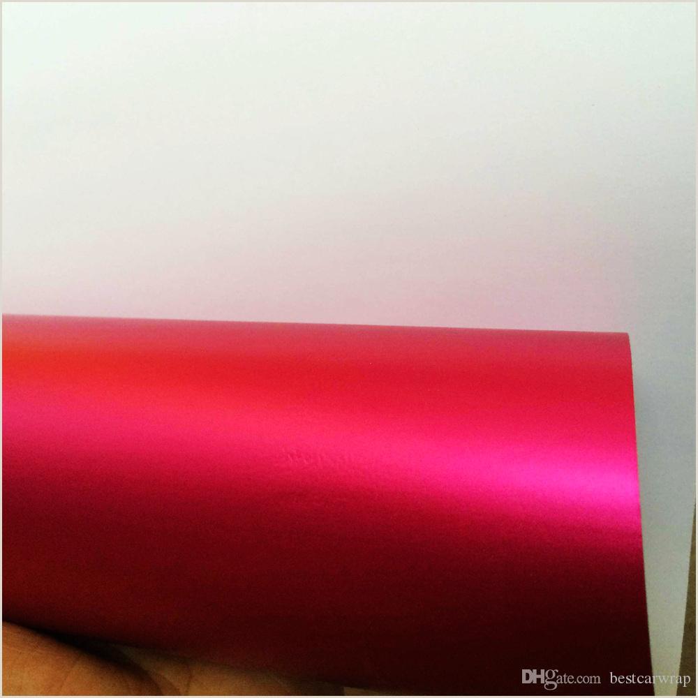 Pelcula rosada del abrigo del coche del cromo mate con el lanzamiento de aire satén Chrome Rose Red para el dise±o del abrigo del vehculo Etiquetas