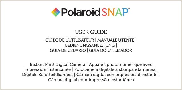Gua de usuario de Polaroid Snap