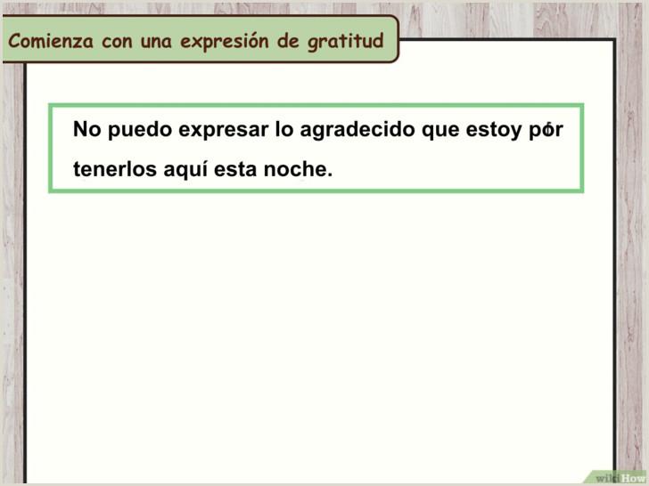 3 formas de dar un discurso de agradecimiento wikiHow