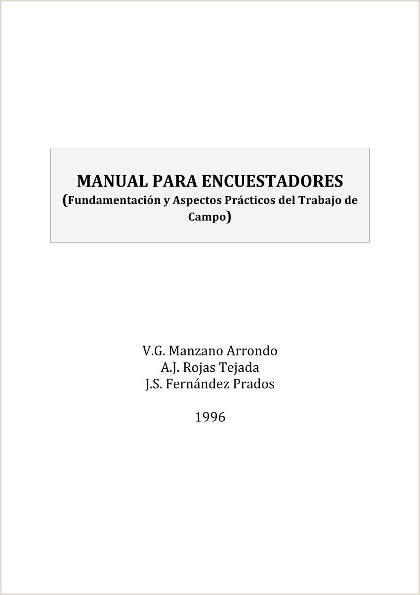 PDF Manual para encuestadores