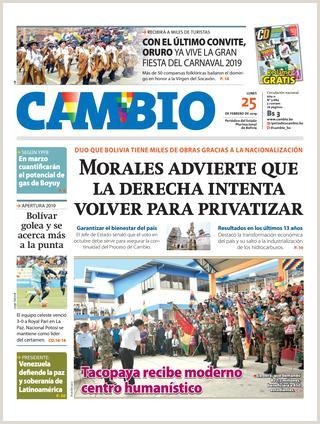 Como Hacer Una Hoja De Vida En Bolivia Edicion Impresa 25 02 19 by Cambio Peri³dico Del Estado