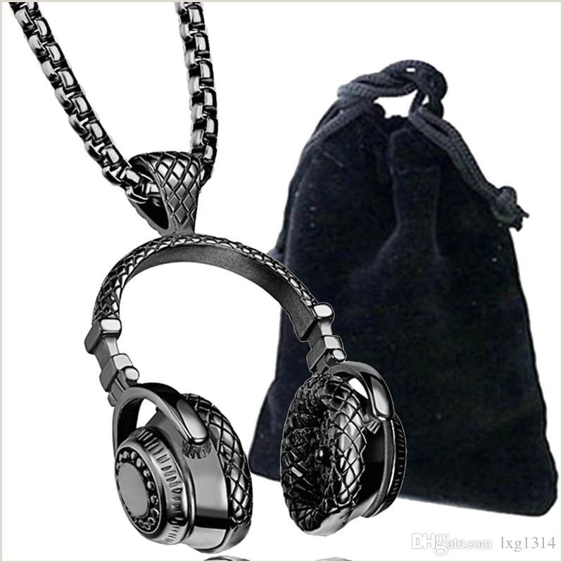 Europa y los Estados Unidos mºsica de moda creativa auriculares auriculares colgante estilo rock mºsica auriculares colgante collar de los hombres