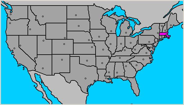 Mapa de Masachusets Estados Unidos BOSTON