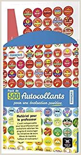450 x Emoji Pegatinas en francés para profesores Tama±o 28