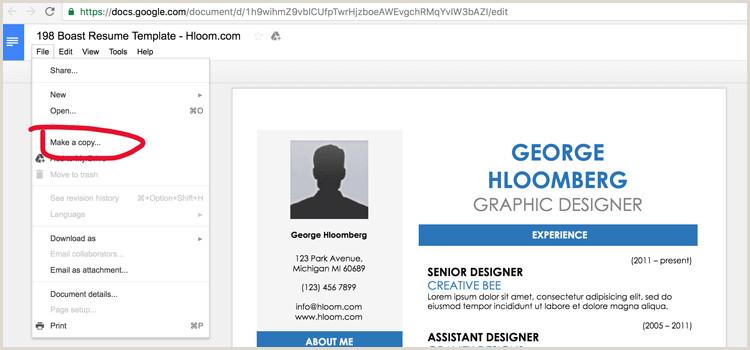 19 plantillas de CV gratis para Google Doc Download