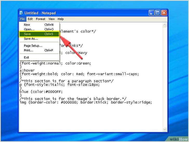 C³mo crear una hoja de estilos CCS simple usando el bloc de