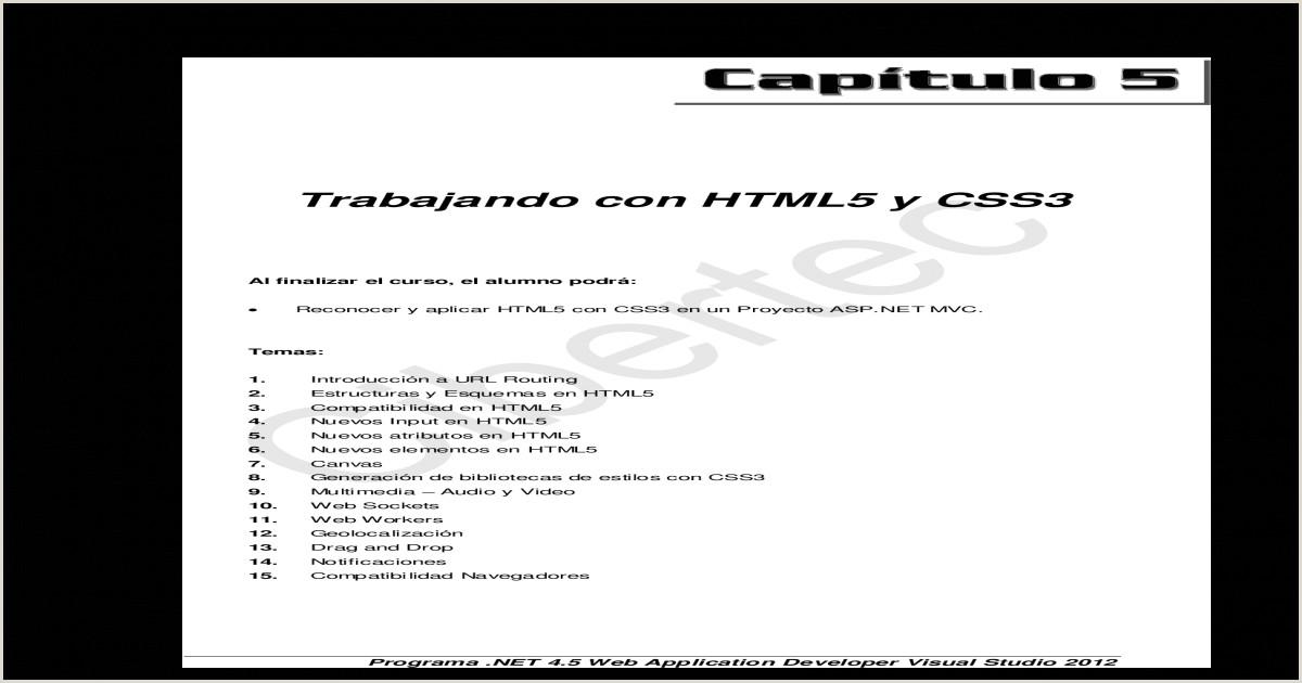 Como Hacer Una Hoja De Vida En HTML5 Y Css3 Trabajando Con HTML5 Y Css3 [pdf Document]