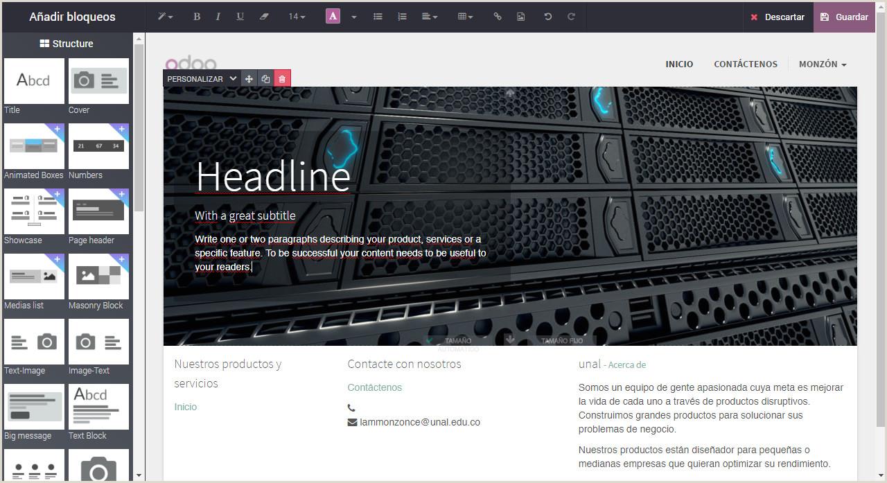 Como Hacer Una Hoja De Vida En Una Pagina Web HTML Odoo Fce