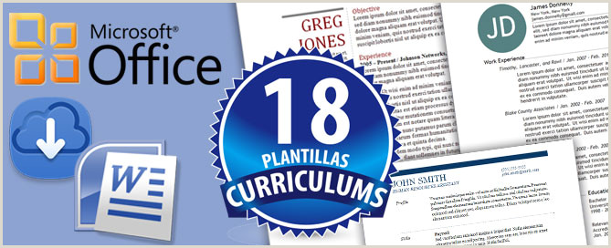 18 Plantillas Editables Curriculums formato Word