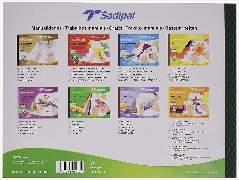 Sadipal Cuaderno de manualidades con papel charol
