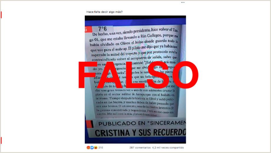 Como Hacer Una Hoja De Vida Falsa El Texto Ledo Por Feinmann sobre Cfk Y El Tango 01 No Fue