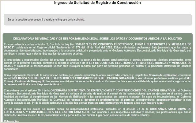 Como Hacer Una Hoja De Vida formato Ecuador Páginas Ingreso De solicitud De Registro De Construcci³n
