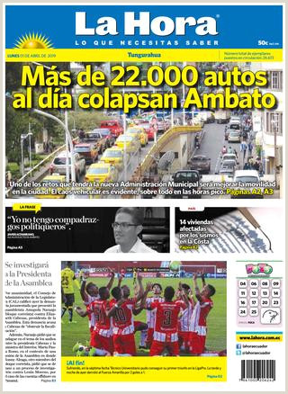 TUNGURAHUA 01 DE ABRIL DEL 2019 by Diario La Hora Ecuador