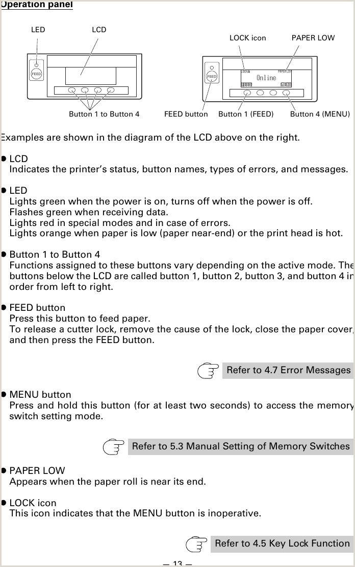 Citizen Ct S851 Users Manual