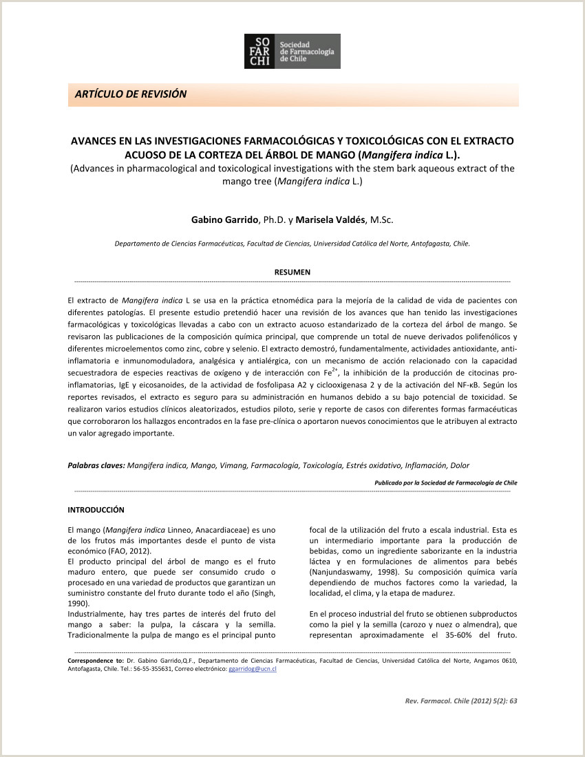 PDF Avances en las investigaciones farmacol³gicas y
