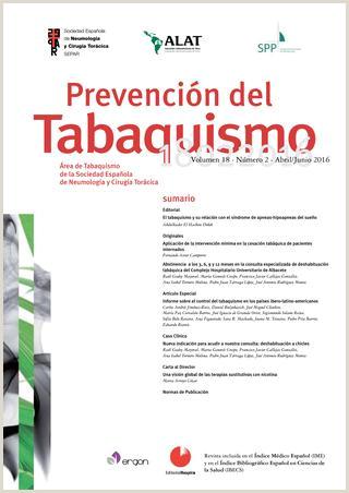Revista Prevenci³n del Tabaquismo abril junio 2016 by SEPAR