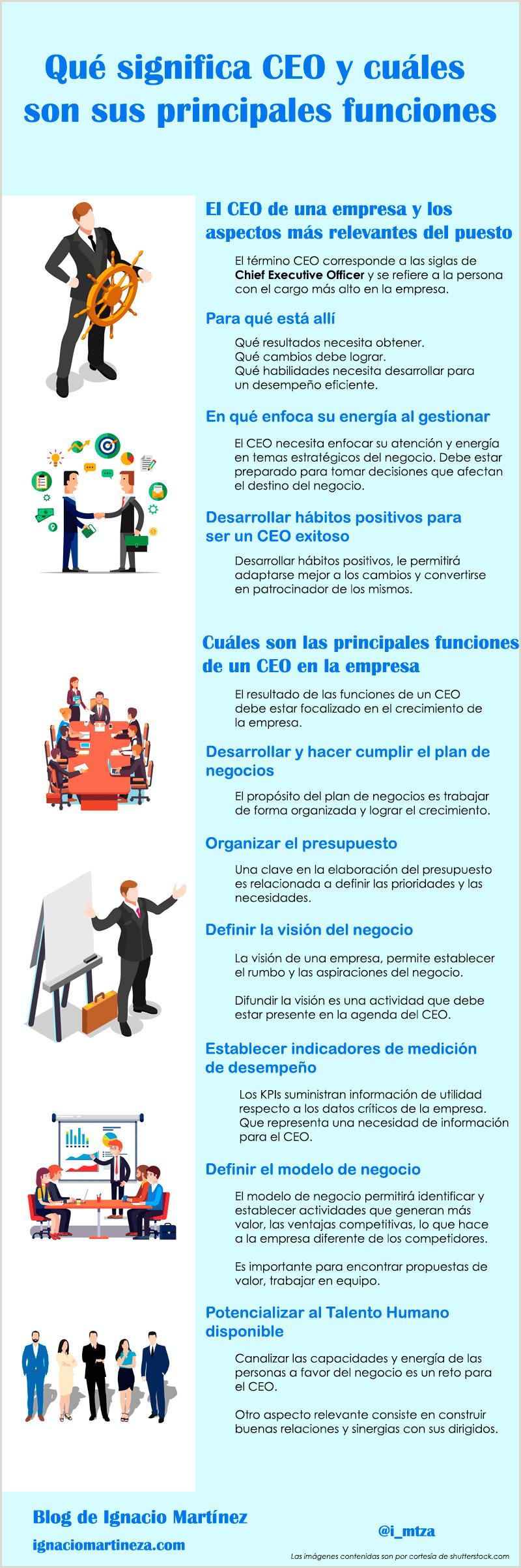Qué significa CEO y cuáles son sus principales funciones