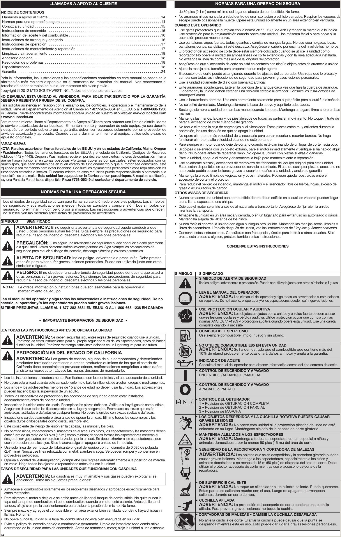 Cub Cadet St228 Users Manual Tabloid