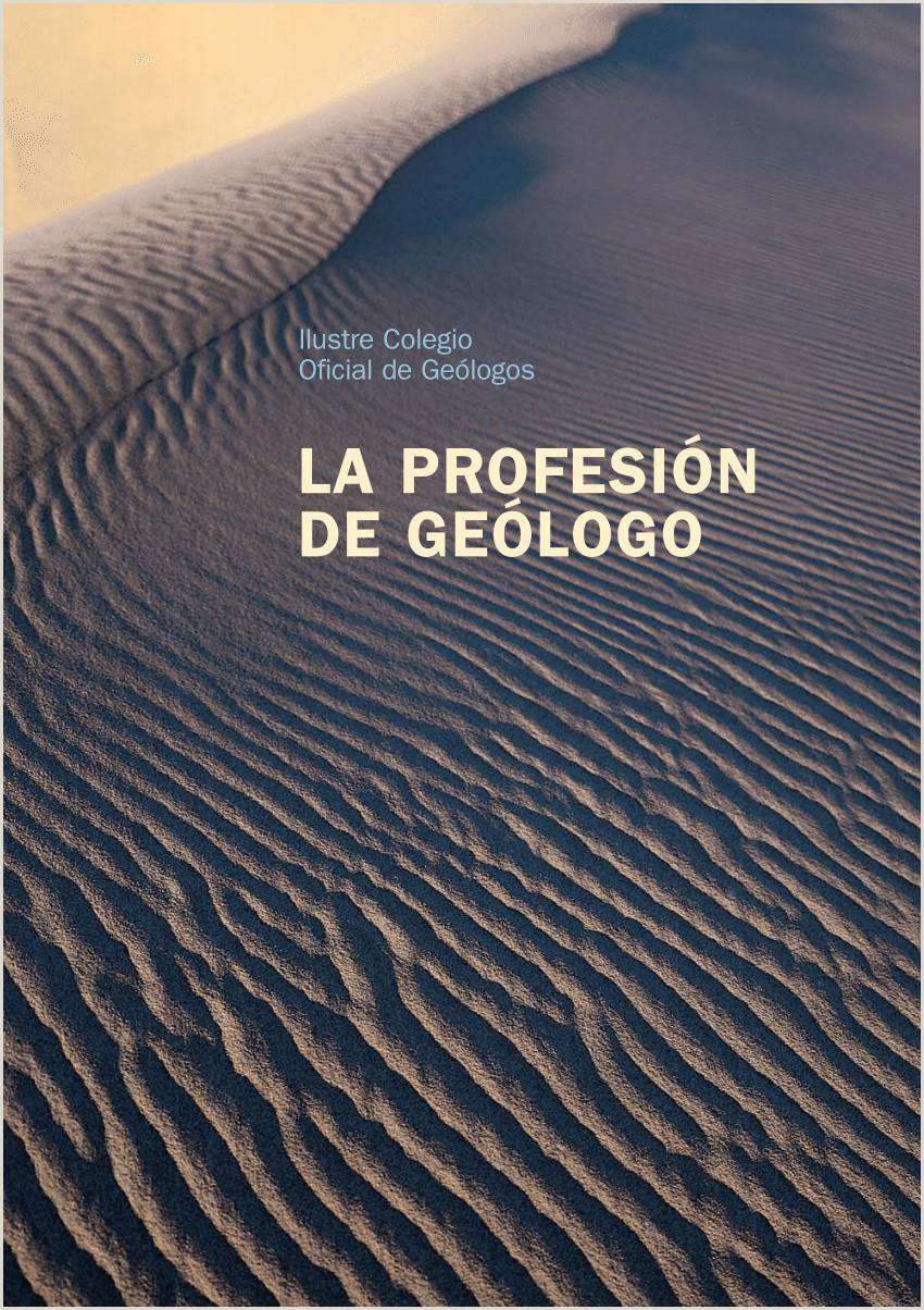 Como Hacer Una Hoja De Vida Para Un Geologo Pdf La Profesion De Ge³logo