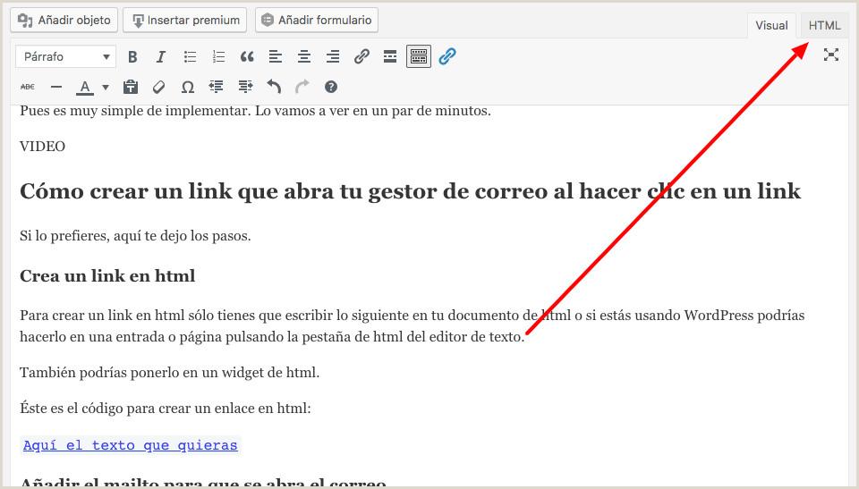 Como Hacer Una Hoja De Vida Por Gmail O Crear Un Enlace Mailto Con Para Abrir El Correo