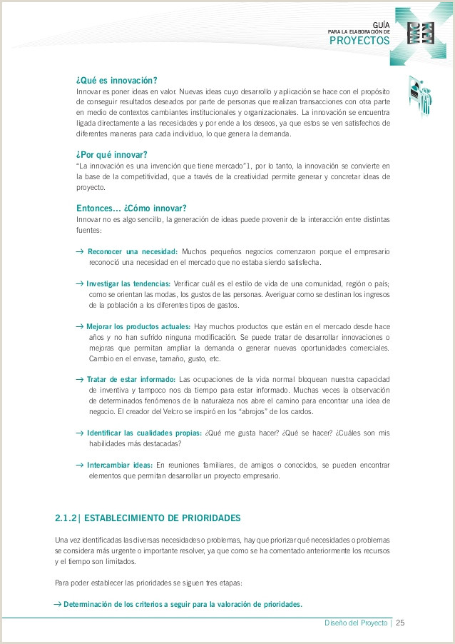 Como Hacer Una Hoja De Vida Sencilla Guia Para La Elaboracion De Proyectos Gobierno Vasco