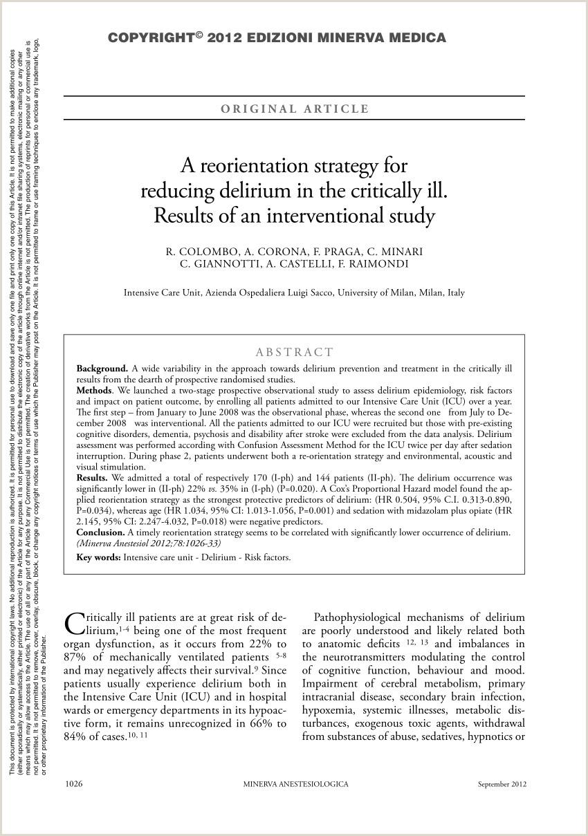 PDF Delirium en pacientes despiertos con ventilaci³n