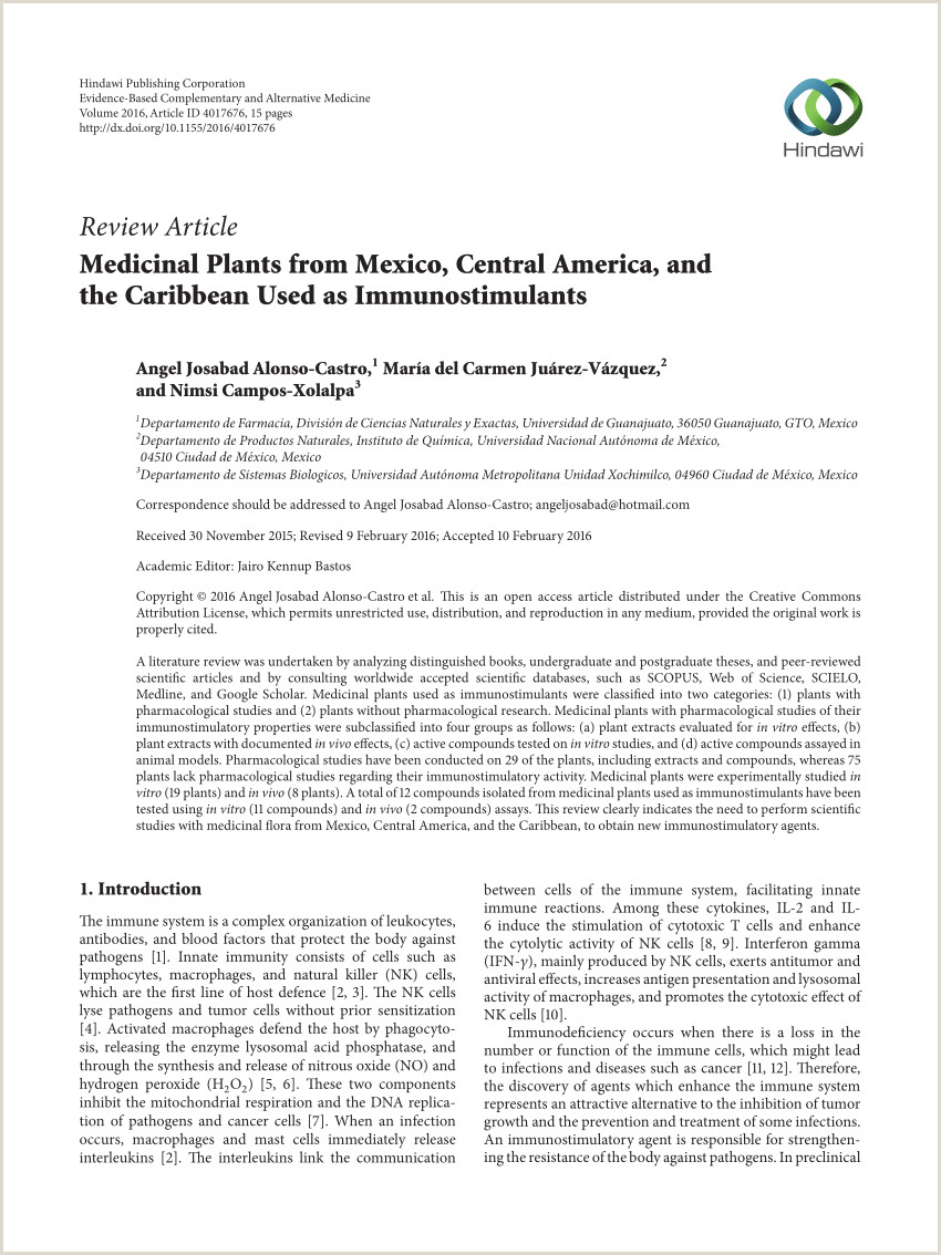 PDF Medicinal Plants from Mexico Central America and the