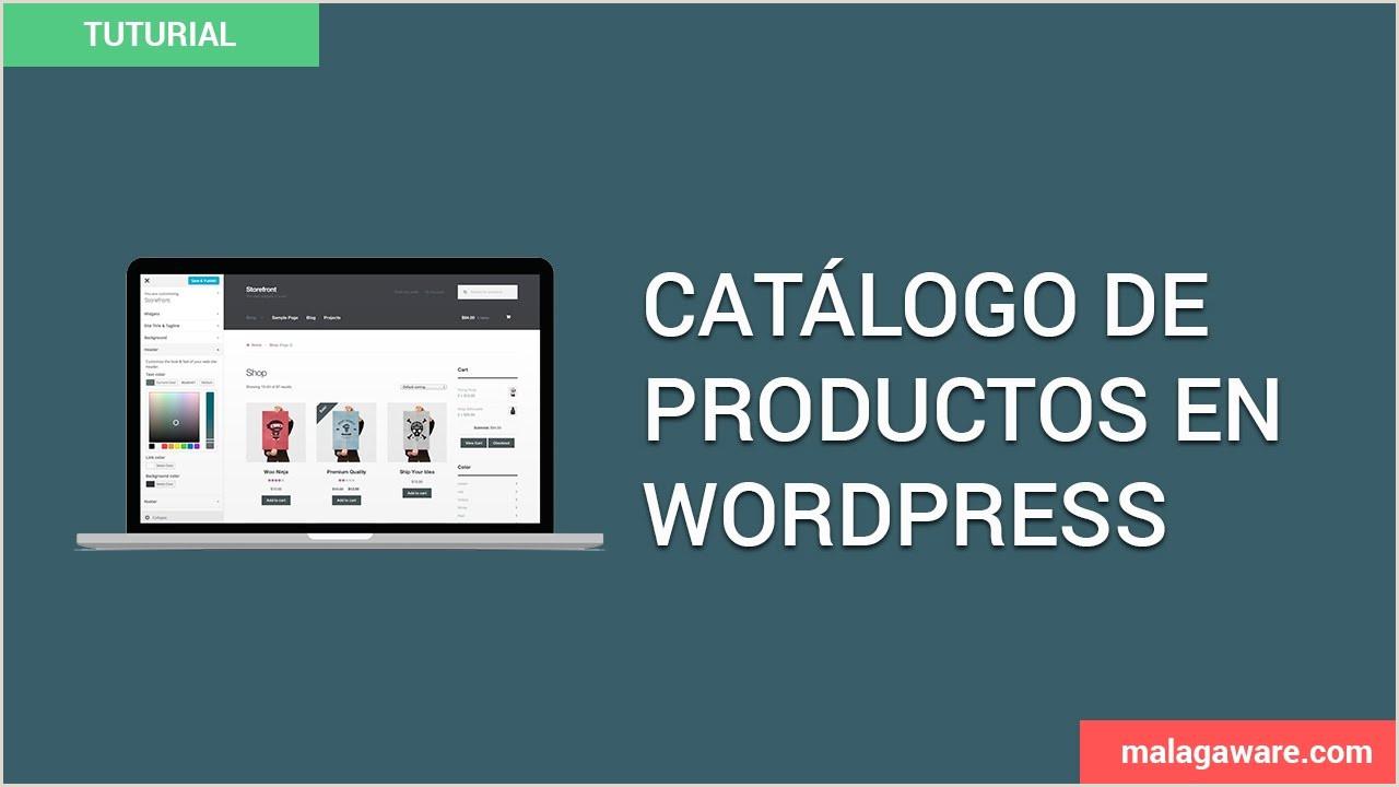 C³mo crear un catálogo de productos con WordPress