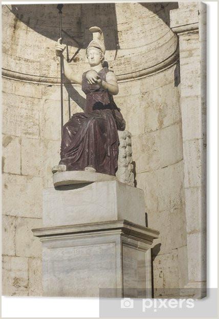 Cuadro en Lienzo Estatua de Minerva en Roma Italia