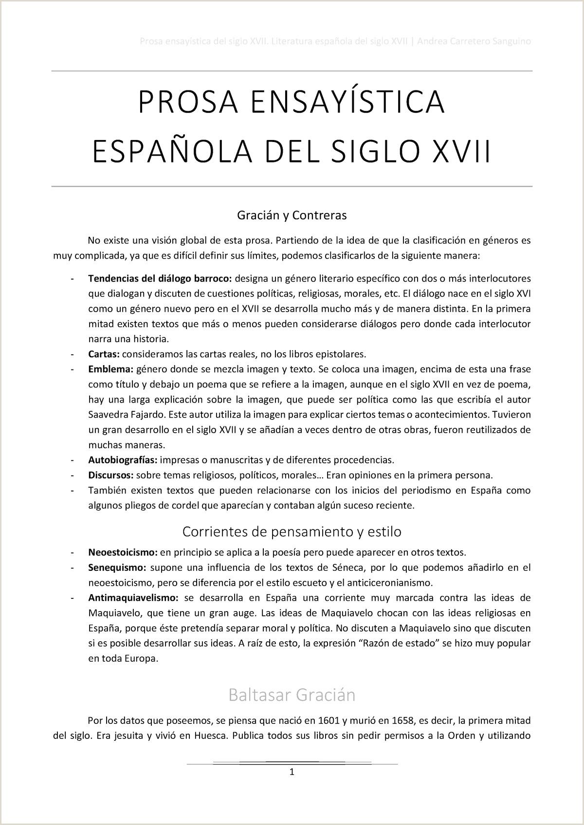 Como Hago Una Hoja De Vida Minerva Prosa Ensaystica Del Siglo Xvii Gracián Y Contreras Studocu