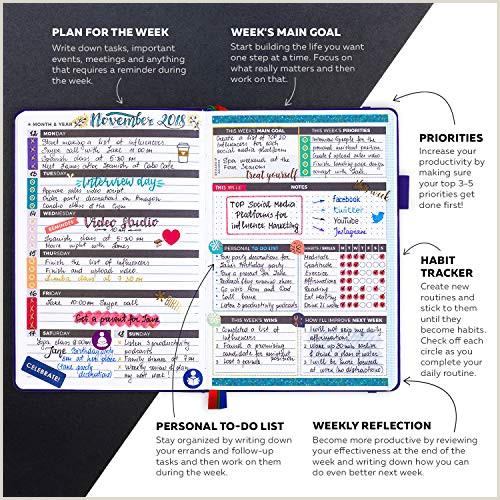 Planificador Clever Fox Agenda Semanal Mensual Diario Para Disparar la Productividad Motivaci³n Felicidad éxito y Lograr tus Metas en 2019