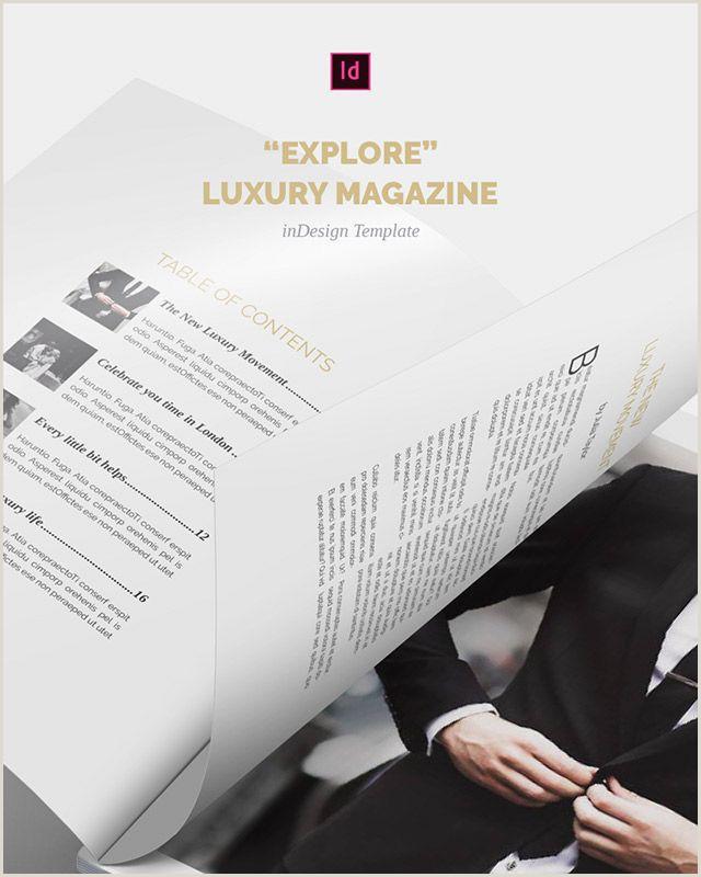 Company Profile Design Template Explore Luxury Magazine