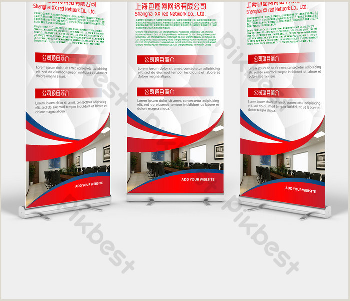 Red Corporate Profile Display Design
