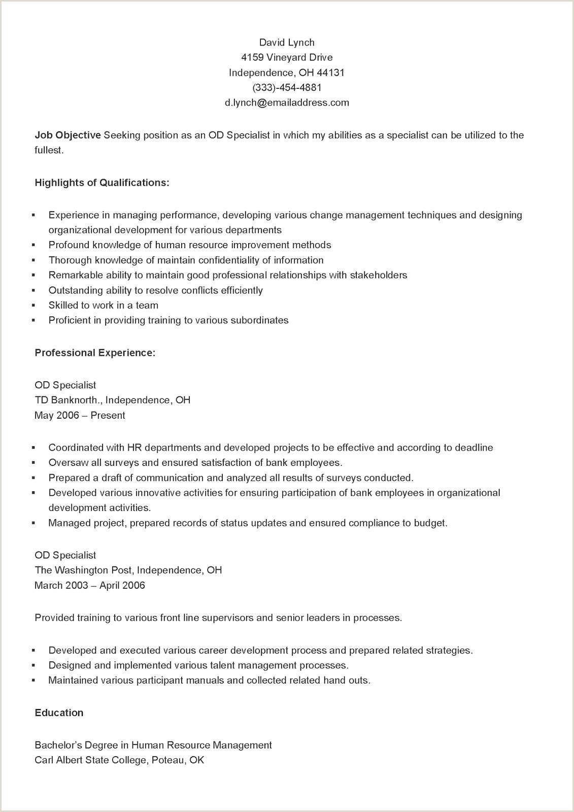 Example Financialst Resume Sangabcafe Entry Level