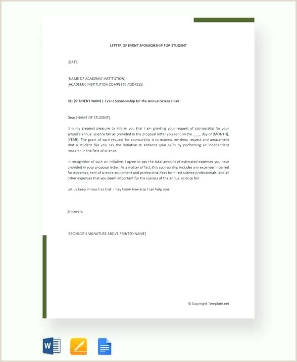 Concert Sponsorship Proposal Template Letter Sample Pdf Free