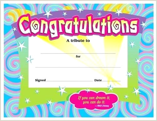 Certificates For All Ages Congratulations Award Template
