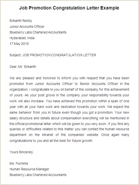Congratulation Letter for Award Congratulations for Promotion Email Template Prize