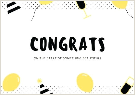 Yellow And Black Dots Congratulations Card Award Template