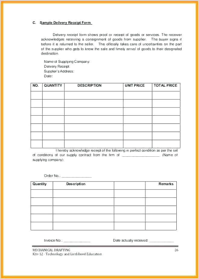 Delivery Invoice Template Challan Format In Excel Free