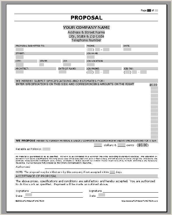 Construction Bid Template Free Microsoft Office Business Proposal Templates Examples