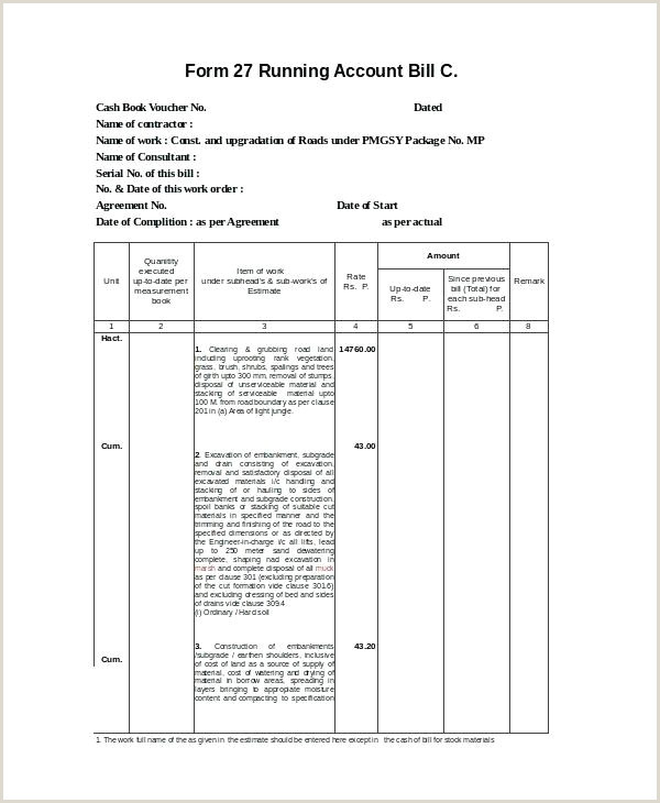 Construction Bill Template Download By Hotel Doc Gst Word