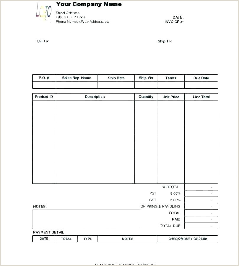 Construction Bill format Construction Receipt Template