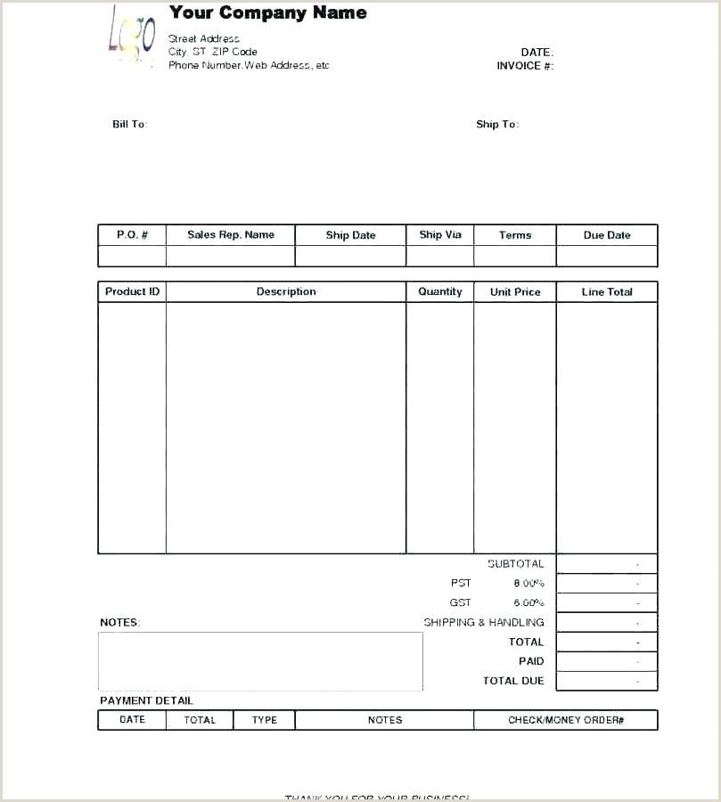 construction receipt template