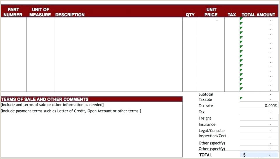 General Construction Invoice Template Contractor Form