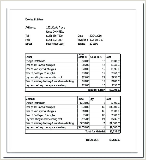 Construction Bill format Progress Invoice Template Download Payment Billing for