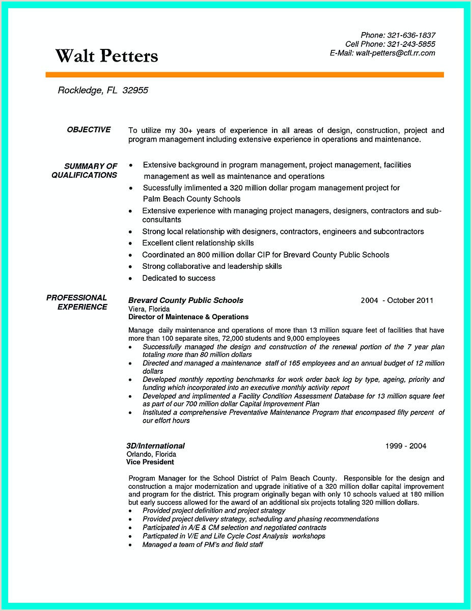 Construction Office Manager Resume Cool Construction Project Manager Resume to Get Applied